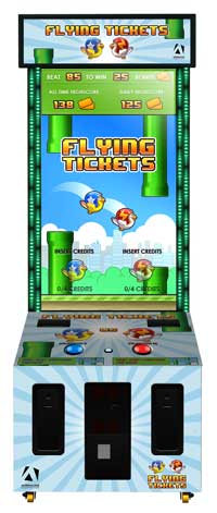 flying tickets arcade videmption